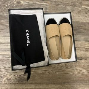 Brand New Chanel Espadrilles Size 37 w/ Box